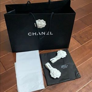 Chanel gift bag and ribbons